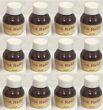 360ML YELLOW INK FOR UNIVERSAL INKJET CARTRIDGE REFILLING, SUPPLIED AS 12 X 30ML