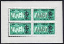 """Ungarn 1962 - Mi. Block 35A  """"Kampf gegen Malaria"""" postfrisch"""