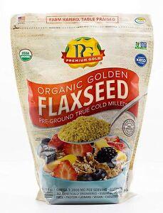 Premium Gold Organic Ground Flax Seed   High Fiber Food   Omega 3   4 pounds