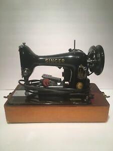 Singer 99k Vintage EM514197 Sewing Machine June 4th 1957 Retro Sew Surge Fabric