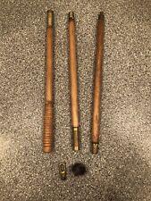 Vintage Wooden Gun Barrel Cleaner Rifle Shotgun 3 Piece Cleaning Rod
