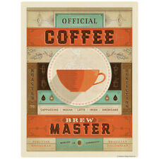 Coffee Brew Master Decal 26 x 34 Peel and Stick Kitchen Decor