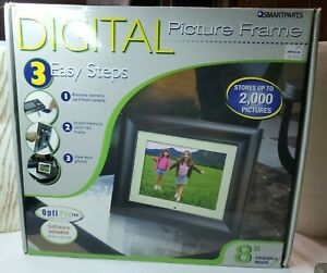 Smartparts Digital Picture Frame 8 inch Up To 2000 Pictures Wood Look (BIN#3)