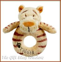 MY FIRST TIGGER PLUSH RING RATTLE OFFICIAL DISNEY CLASSIC WINNIE THE POOH 0+ NEW