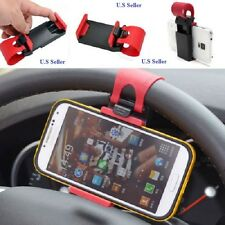 2 Universal Car Steering Wheel Clip Mount Holder For iPhone 6  Red,