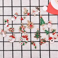 19 pcs Metal Alloy Mixed Christmas Charms Set Jewellery Pendants Decor Well .