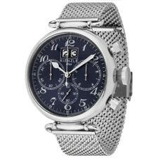 KIENZLE 1822 RETRO Herren-Armbanduhr Chronograph, 5 BAR, Datum, Edelstahlband