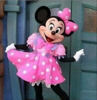 Minnie Mouse Adult Mascot Costume Halloween Party Cosplay Fancy Dress Outfit Hot