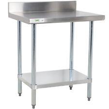 24 X 30 Stainless Steel Work Prep Shelf Table With Backsplash Commercial Nsf