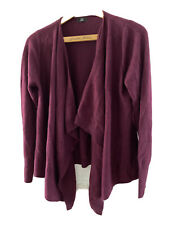 BN 100% Cashmere purple waterfall open cardigan £60 F&F sizes 6 8 10 12