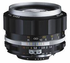 Voigtlander NOKTON 58mm F1.4 SL II S for Nikon F silver rim in Box F/S