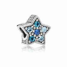 Bellissimo charm PANDORA Stella Blu Luminosa in argento 925 Nuovo Originale