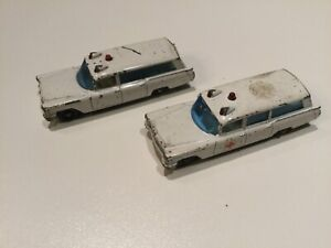 Matchbox series #54 Cadillac ambulances lot of 2