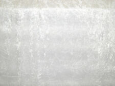 Crushed Velvet Velour Craft Dress Fabric White 150cm Wide SOLD BY THE METRE