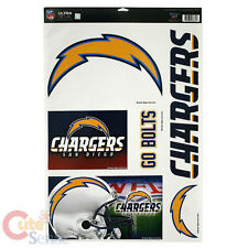 "NFL San Diego Chargers Window Clings Decal 5 Logo on 11""x17"" Auto Accessories"