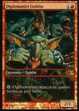 FOIL PROMO GAME DAY FULL ART Diplomatici Goblin - Diplomats MTG MAGIC M14 Ita