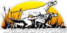 Perros de caza aguiluchos, cazador Perro, Pegatina De Vinilo, Calcomanía