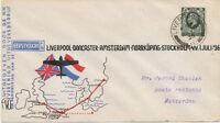 GB 1936 First Flight KLM/British Continental Airways LIVERPOOL–DONCASTER-AMSTERD