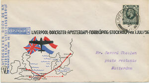 GB 1936 First Flight KLM/British Continental Airways LIVERPOOL–DONCASTER-AMSTERD