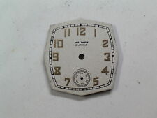 Nos Waltham 21-Jewel Pointed Edge Wristwatch Dial d-53