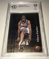 1998-99 Topps Finest #230 Vince Carter Rookie w/ COATING RC Graded BCCG 10 Mint