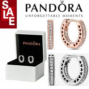 Genuine Pandora New S925 Sterling Silver Hoop Earrings 296317 With UK!