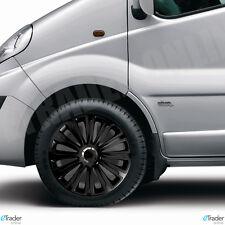 "16"" Black Wheel Trims Vauxhall Vivaro Hub Caps New Trim Cover Cap X 4 Quality"