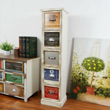 Clearance Bedside Shabby Chic Wooden colourful Tall Storage Drawer Cabinet New