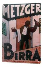 Tin Sign Beer Bar Pub Birra Metzger Vintage