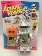 Vintage Toy Mini Action Robot Silver Remote Control Controlled Space Toys 1980's