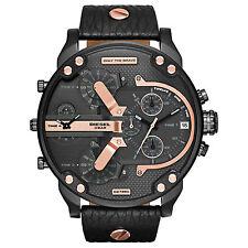 DIESEL Uhr DZ7350 MR. DADDY 2.0 Herrenuhr Chronograph Leder Schwarz Armbanduhr