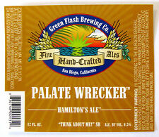 Green Flash Brewing  PALATE WRECKER beer label San Diego CA  12oz