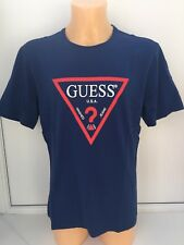 GUESS Blue Graphic Short Sleeve Large Logo Tee Sizes S,M,L,XL,2XL BNWT