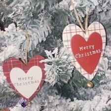 Adornos de campana de madera para árbol de Navidad