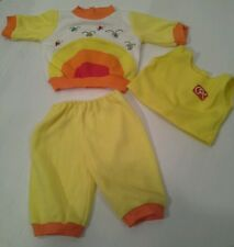 Vintage Cabbage Patch CPK 3 Piece Yellow Rainbow Jogger Outfit Sweatsuit Lights?