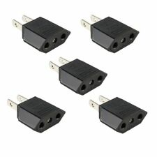 New 5Pcs European Euro EU to US USA Travel Charger Adapter Plug Outlet Converter