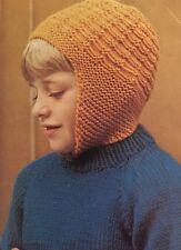 G5 - Knitting Pattern - Kids DK Wooly Balaclava Helmet Hat - Children's