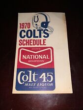 1970 Baltimore Colts National Boh Colt 45 Football Pocket Schedule