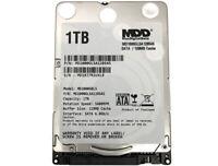 """New MDD 1TB 5400RPM 128MB Cache 7mm 2.5"""" SATA 6Gb/s Internal Notebook Hard Drive"""