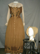 Victorian Dress Womens Edwardian Costume Civil War Western Prairie
