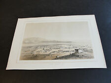 """SALE""-1850's Chromolithograph-Los Angeles (California)-Art Print Unframed.RARE!"