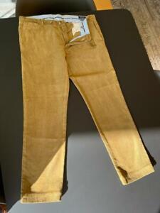 Mens Polo Ralph Lauren Stretch Slim Fit Cords, Sand. 36w x 32L Excellent