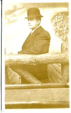 REAL PHOTO POSTCARD OF A MAN TAKEN IN A STUDIO 1930-1940 ERA IS MY GUESS