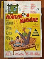 1961 THE HONEYMOON MACHINE ONE SHEET MOVIE POSTER STEVE MCQUEEN AUSSIE VGC-EXC!