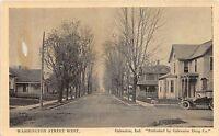 B62/ Galveston Indiana In Postcard c1910 Washington Street Homes Auto