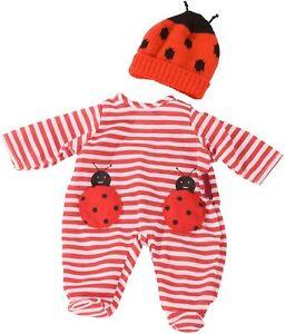 Puppenkleidung für Babypuppe Strampler Anzug Kombi Puppengröße 30-33 cm 3403036