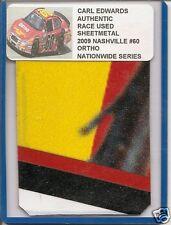 Carl Edwards authentic race used sheet-metal #60 Ortho 2009 Nashville