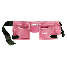 11 Pocket Pink Leather Tool Belt Double Pouch Hen Stag Night Ladies Fancy Dress