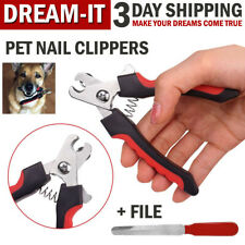 Pet Dog Toe Nail Clippers Cutter Trimmer Scissors Shears Professional Heavy Duty