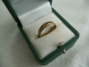 GOLD RING 9 Caret Size M Retro Vintage Ladies Girl's